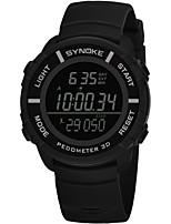 Недорогие -SYNOKE Муж. Спортивные часы / электронные часы Календарь / Секундомер / Защита от влаги PU Группа Мода Черный / Серый / Темно-синий / Хронометр / Фосфоресцирующий
