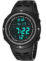 abordables -SYNOKE Hombre Reloj Deportivo / Reloj digital Calendario / Cronógrafo / Resistente al Agua PU Banda Moda Negro / Cronómetro / Noctilucente