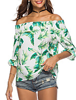 cheap -women's t-shirt - floral strapless