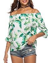 economico -T-shirt Per donna Fantasia floreale Senza bretelline