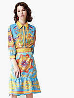 cheap -By Megyn Women's Basic / Sophisticated Shirt - Solid Colored / Floral Skirt