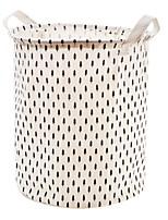 cheap -Cotton / Polyster Round Geometric Pattern Home Organization, 1pc Storage Baskets