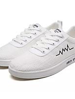 Недорогие -Муж. Лён Весна Удобная обувь Кеды Белый / Черный / Бежевый