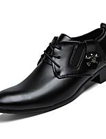 Недорогие -Муж. Официальная обувь Полиуретан Осень Туфли на шнуровке Черный