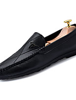 cheap -Men's Shoes PU(Polyurethane) Fall Moccasin Loafers & Slip-Ons White / Black / Red