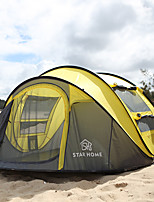 cheap -4 person Backpacking Tent Single Layered Pop Up Camping Tent Outdoor Lightweight, Rain-Proof, Breathability for Beach / Camping / Hiking / Caving 2000-3000 mm Polyster 290*200*130 cm