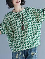 abordables -Tee-shirt Femme, Géométrique Basique