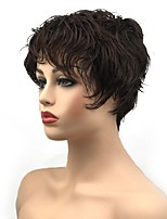 cheap -Synthetic Wig Curly Pixie Cut Synthetic Hair Synthetic Dark Brown Wig Women's Short Capless / Yes