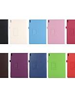 Недорогие -Кейс для Назначение Lenovo Tab 4 10 Plus / Tab 4 10 со стендом / Флип Чехол Однотонный Твердый Кожа PU для Lenovo Tab 4 10 Plus / Lenovo Tab 4 10