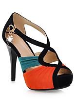 Недорогие -Жен. Обувь Замша Весна лето Удобная обувь Обувь на каблуках На шпильке Зеленый