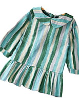 cheap -Kids Girls' Striped Long Sleeve Dress
