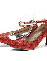 preiswerte -Damen Schuhe Wildleder / PU Frühling Komfort High Heels Stöckelabsatz Gold / Rot / Rosa