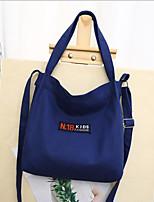 cheap -Women's Bags Canvas Shoulder Bag Zipper Yellow / Light Green / Dark Green