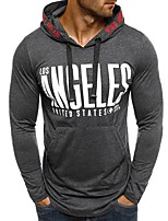 cheap -Men's Active / Basic Hoodie - Solid Colored / Letter