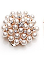 cheap -Women's Stylish Brooches - Imitation Pearl Flower Fashion, Elegant Brooch Gold For Formal / Date