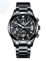 cheap -Men's Dress Watch Chronograph / Water Resistant / Water Proof Alloy Band Luxury Black / Silver