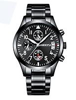 baratos -Homens Relógio Elegante Cronógrafo / Impermeável Lega Banda Luxo Preta / Prata