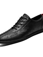 Недорогие -Муж. Искусственная кожа / Полиуретан Лето Удобная обувь Туфли на шнуровке Черный / Коричневый