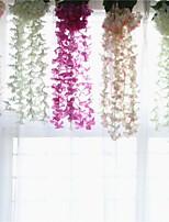 Недорогие -Искусственные Цветы 1 Филиал подвешенный Сценический реквизит / Модерн Гортензии Цветы на стену