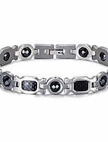 cheap -Men's Stylish Bracelet - Titanium Steel, Stainless Creative Trendy, Casual / Sporty Bracelet Silver For Gift / Date