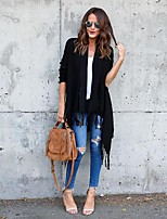 cheap -Women's Street chic Cardigan - Solid Colored, Tassel
