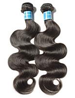 Недорогие -2 Связки Бразильские волосы Естественные кудри Не подвергавшиеся окрашиванию Человека ткет Волосы 8-28 дюймовый Ткет человеческих волос Машинное плетение Лучшее качество / 100% девственница