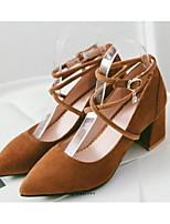 cheap -Women's Shoes PU(Polyurethane) Spring / Fall Comfort / Basic Pump Heels Chunky Heel Black / Beige / Yellow
