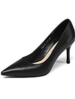cheap -Women's Shoes Nappa Leather Spring / Fall Comfort / Basic Pump Heels Stiletto Heel Black / Beige / Red