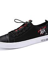 Недорогие -Муж. Наппа Leather Весна Удобная обувь Кеды Белый / Черный