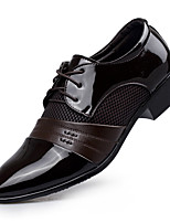 cheap -Men's Faux Leather Spring & Summer / Fall & Winter Business / Casual Oxfords Breathable Black / Brown