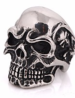 cheap -Men's Stylish Statement Ring - Titanium Steel, Stainless Skull Statement, European, Hip-Hop 7 / 8 / 9 Silver For Carnival / Street