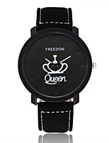cheap -Women's Wrist Watch Chinese Casual Watch Leather Band Fashion / Minimalist Black / Brown