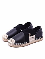 cheap -Girls' Shoes Cowhide Spring / Fall Comfort Flats for White / Black