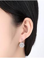 cheap -Women's Cubic Zirconia Classic Hoop Earrings - Creative Simple, Geometric, Fashion Gold / Silver / Rose Gold For Wedding / Date