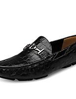 Недорогие -Муж. Кожа Лето Удобная обувь Мокасины и Свитер Коричневый / Зеленый / Синий
