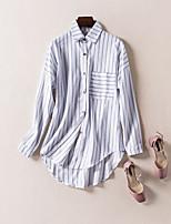 Недорогие -Жен. Рубашка Классический Полоски