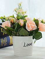 Недорогие -Искусственные Цветы 1 Филиал Классический Модерн / Простой стиль Розы Букеты на стол