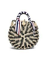 cheap -Women's Bags Straw Shoulder Bag Sashes / Ribbons Gold / Black / Silver