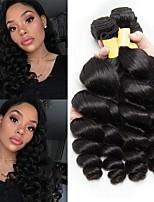 billige -4 pakker malaysisk hår Bølget Menneskehår Menneskehår, Bølget / Udvidelse / Bundle Hair 8-28 inch Menneskehår Vævninger Maskinproduceret Moderigtigt Design / Klassisk / Bedste kvalitet Naturlig