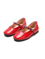 Недорогие -Девочки Обувь Полиуретан Весна лето Удобная обувь / Детская праздничная обувь На плокой подошве Для прогулок для Дети Черный / Красный