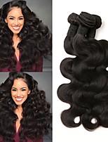 Недорогие -6 Связок Перуанские волосы Волнистый Натуральные волосы Человека ткет Волосы / Накладки из натуральных волос 8-28 дюймовый Ткет человеческих волос Машинное плетение Лучшее качество / 100% девственница