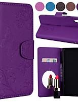 preiswerte -Hülle Für Sony Xperia L1 Kreditkartenfächer / Flipbare Hülle / Muster Ganzkörper-Gehäuse Solide / Schmetterling Hart PU-Leder für Sony Xperia L1