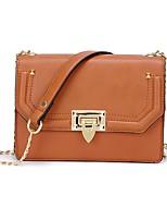 cheap -Women's Bags PU(Polyurethane) Shoulder Bag Zipper Black / Coffee / Khaki