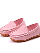 Недорогие -Девочки Обувь Полиуретан Наступила зима Удобная обувь Мокасины и Свитер Для прогулок для Дети Синий / Розовый / Темно-коричневый