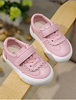 cheap -Girls' Shoes PU(Polyurethane) Spring / Fall Comfort Sneakers Magic Tape for Toddler White / Pink