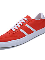 cheap -Men's Canvas / PU(Polyurethane) Fall Comfort Sneakers Color Block White / Orange / Blue