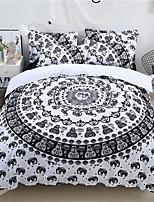 cheap -Duvet Cover Sets Cartoon Poly / Cotton / Polyster Reactive Print 3 Piece