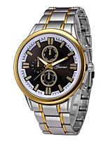 baratos -Homens Relógio de Pulso Chinês Cronógrafo / Relógio Casual Aço Inoxidável Banda Rígida / Minimalista Prata / Dourada