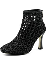 cheap -Women's Shoes Nappa Leather Spring Comfort / Fashion Boots Boots Stiletto Heel White / Black