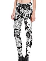 abordables -Mujer Básico Legging - Un Color Media cintura